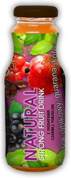 NATURAL FRUIT ENERGER -100% natural energy drink.  Ingredients: natural apple juice squeezed from fresh fruit + natural caffeine extract 0,03% + natural guarana extract 0,02%.
