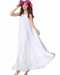 Kawen Women's Large Circle Maxi Long Chiffon Sun Beach Ball Dress (White) KaWen,http://www.amazon.com/dp/B00IXO3SF4/ref=cm_sw_r_pi_dp_8GEqtb0015RWNBP7