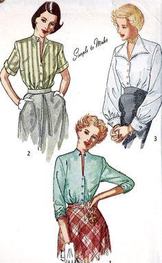 1940s Misses Blouse