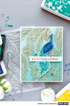 CM126 Hero Arts Colour Layering Peacock Clear Stamp Set | Crafts U Love