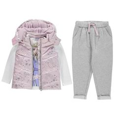 Character Gilet Set Girls Disney Frozen Anna Vest Pants Joggers Top Long Sleeve T-shirt Sleeveless Jacket, Cute Baby Clothes, Disney Girls, Outfit Sets, The North Face, Kids Outfits, Tommy Hilfiger, Calvin Klein, Rain Jacket