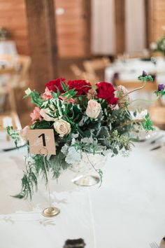 Boho Eclectic Red & Green Centerpiece | Lindsey LaRue Photography
