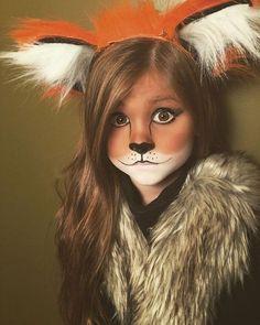 Maquillaje infantil de zorro