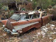 Classic Car News – Classic Car News Pics And Videos From Around The World Abandoned Buildings, Abandoned Houses, Abandoned Places, Abandoned Vehicles, Vintage Cars, Antique Cars, Junkyard Cars, Chevy Nomad, Rusty Cars
