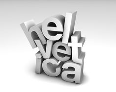 Helvetica.  3D typography illustration