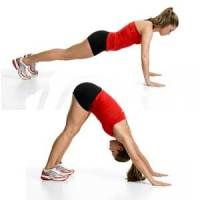 Arm jiggle workout: 7 moves using your own body weight (1 circuit 2-3x/week).