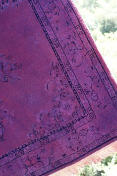 Another great DIY rug dyeing tutorial.