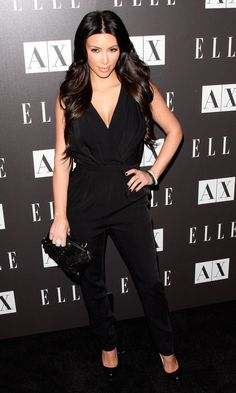 Kim Kardashian Rocks A Jumpsuit At The Disco Glam Event At A/X In LA, May 2010
