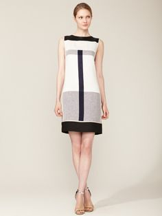 Narciso Rodriguez Linen Paneled Shift Dress