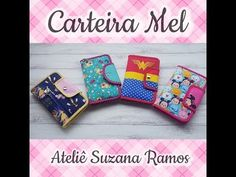 CARTEIRA MEL - YouTube Backpack Pattern, Sewing Projects, Gadgets, Pouch, Backpacks, Fabric, How To Make, Crafts, Youtube