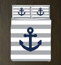 Custom Nautical Duvet Bedding by GatheredNestDesigns on Etsy