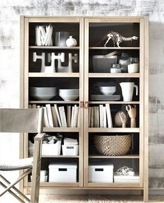 Display cabinet from the upcoming #Ikea #Björksnäs collection, designed by brother & sister team Marianne & Knut Hagberg. Already available in shops in Sweden..