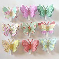 DIY paper Butterfly wall pegs
