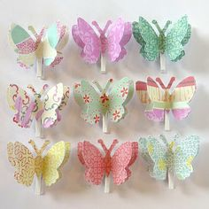 DIY paper Butterfly wall pegs