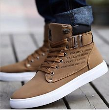 2017 Hot Fashion Sapatos de Couro sapatos Masculino Casual Alta Top Shoes tênis de Lona