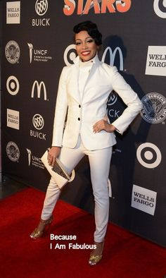 Fabulously Spotted: Monica Brown Wearing Veronica Beard - UNCF's 35th Annual An Evening With The Stars - http://www.becauseiamfabulous.com/2014/04/monica-brown-wearing-veronica-beard-uncfs-35th-annual-an-evening-with-the-stars/