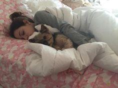 Gabi's cuddling with lil's