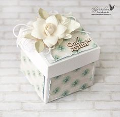 Scrap story ...: Коробочки для Sizzix Waller Paper, Shabby Chic Boxes, Exploding Box Card, Magic Box, Craft Bags, Wedding Boxes, Diy Box, Little Boxes, Flower Wallpaper
