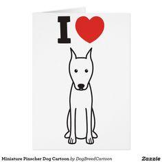 Desenhos animados do cão do Pinscher diminuto