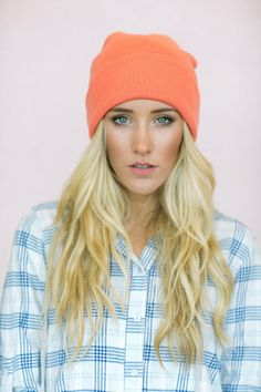 Sailor Bohemian Beanie Slouchy Knit Hat - Coral Cozy Winter Boho Knitted Ruched Turban Cap in Grey