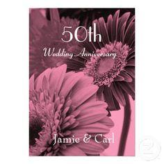 #weddings #anniversary #anniversaryinvitations #invitations #flowers $1.60