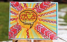 The Mixed Media Card Challenge #22 – April – Sunshine | honeybeelane