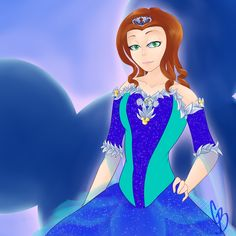 A commissions I did! A simple flat color of my friend looking like a disney princess. Honestly if she was a disney princess, 10/10 would want to get my picture taken with her!