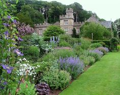 The Most Exquisite Gardens and Landscaping Ever!  via  Gresgarth Hall Herbaceous border designed by renowned landscape designer Arabella Lennox Boyd