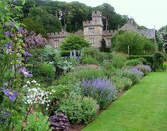 Gresgarth Hall Herbaceous border designed by renowned landscape designer ARABELLA LENNOX BOYD