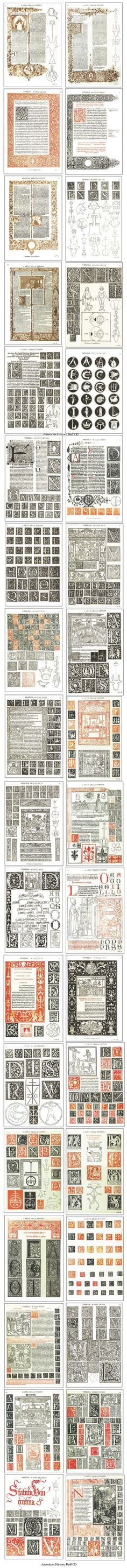 Venetian Typography Italian Renaissance Woodcut Printing Illuminated Manuscript | eBay:
