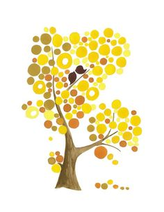 Mustard yellow tree with Love Birds Limited edition print from gouache painting Dot Painting, Gouache Painting, Picture Tree, Yellow Tree, Pattern Art, Art Patterns, Watercolor Bird, Shades Of Yellow, Mellow Yellow