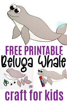 This easy beluga whale craft is fun for kids of all ages including preschoolers and kindergartners! With the free printable beluga whale template, these make the perfect Sunday school bible lesson when teaching of Jonah and the Whale #belugawhalecrafts #whalecrafts #oceananimals #arcticanimalcrafts #SimpleMomProject Ocean Animal Crafts, Whale Crafts, Ocean Crafts, Animal Crafts For Kids, Winter Crafts For Kids, Easy Crafts For Kids, Easy Preschool Crafts, Toddler Crafts, Printable Crafts
