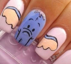 Elephant Nails Panoramic - Amazing Nail Art Designs Ideas For Beginners Learners Fabulous Nails, Perfect Nails, Pretty Nail Designs, Nail Art Designs, Elephant Nails, Self Nail, Animal Nail Art, Nails For Kids, Nagel Gel