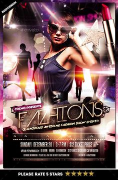 Fashion Show Flyer — Photoshop PSD #woman #fashion • Available here → https://graphicriver.net/item/fashion-show-flyer/14348423?ref=pxcr