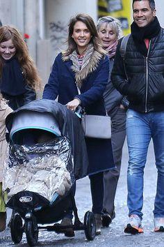 Jessica Alba wearing MICHAEL Michael Kors Selma bag