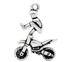 8245380b3 Silver Tone Motorcycle X Games Charm [B10424] - $1.50 : Get Me Beads!, Get  Affordable Beads