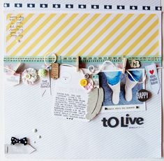 #papercraft #scrapbook #layout. Happy to Live by lory at @Studio_Calico