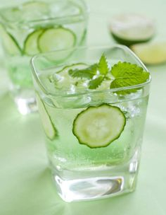 ... and mint leaves. Let chill for 1 to 2 hours. Serve as cooler mocktails