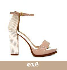 ¿Buscas un tacón cómodo? Ésta es tu sandalia entonces. Disponible en NAVY y NUDE ⏩http://bit.ly/EXE-sandalia-CAPRICHE #exeshoes #exeshoes_spain