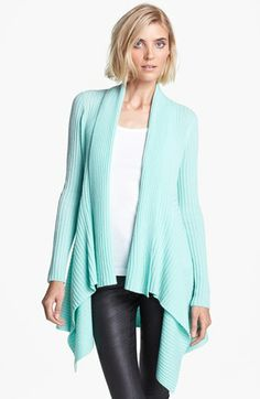 autumn cashmere Draped Rib Knit Cashmere Cardigan available at #Nordstrom