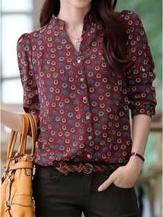Oxblood colored Fall / Winter shirt