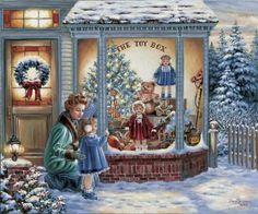 I love old-fashioned Christmas scenes!