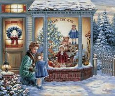 I love old-fashioned Christmas scenes!