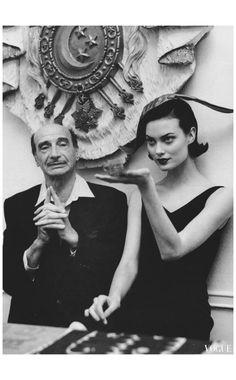 Shalom Harlow vogue US paris couture - %22the haute life%22 Photo Bruce Weber a1