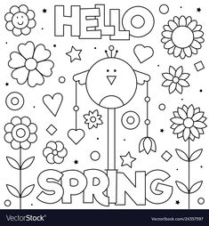 New Year Coloring Pages, Spring Coloring Pages, Dog Coloring Page, Cute Coloring Pages, Free Coloring, Happy Sweetest Day, Merry Christmas Coloring Pages, Rabbit Colors, Hand Embroidery Videos