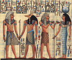 Papyrus Painting  Egytology
