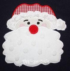 Santa Claus Applique - 3 Sizes!   Christmas   Machine Embroidery Designs   SWAKembroidery.com Applique Cafe