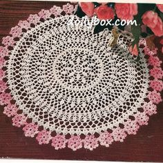 Free crochet pattern Flower Doily