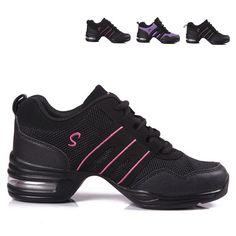1437983bea715 Chaussures de danse femmes Jazz Hip Hop chaussures Salsa baskets pour femme  taille 41 grande taille caractéristique semelle souple respiration chaussures  de ...