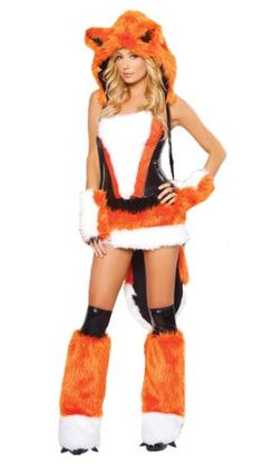 """Fox Costume for Women. Need this for Halloween or Renn Faire for """"What Does the Fox Say..."""" Ding ding ding ding...."""